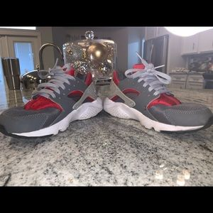 Grey and Red Huaraches